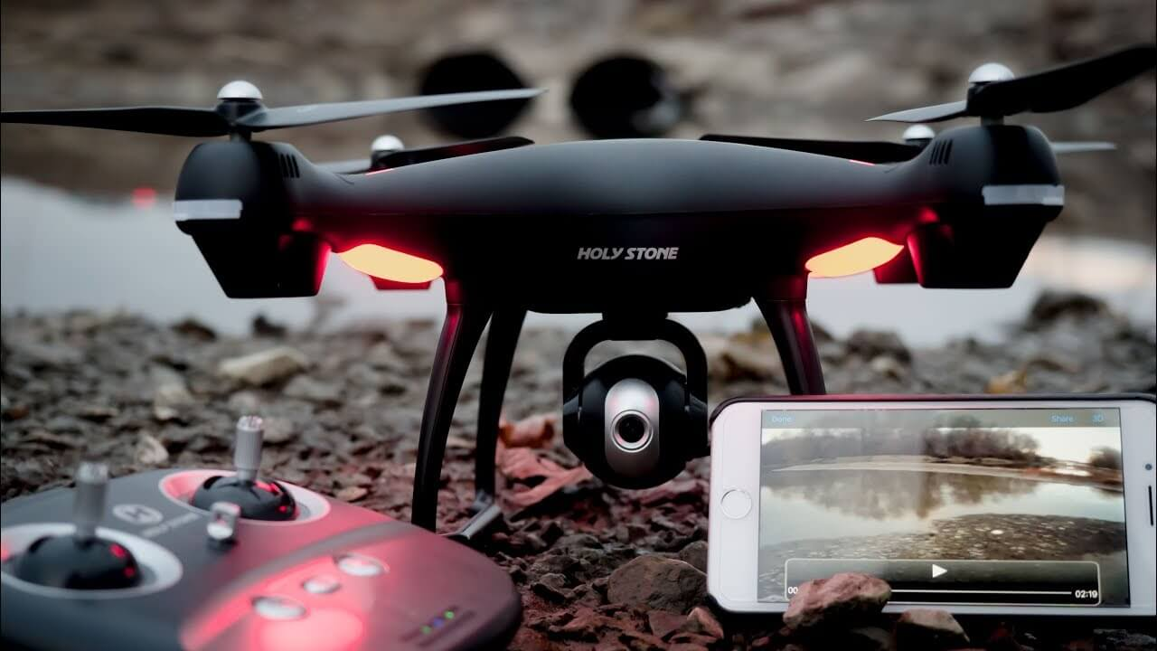Holy Stone black drone with phone control