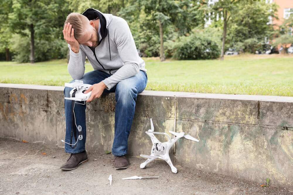A Man Crashed Is Drone Looking For Insurance Company