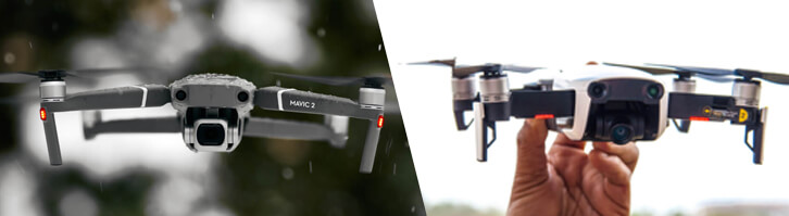 White Mavic Air Vs Mavic 2 Pro