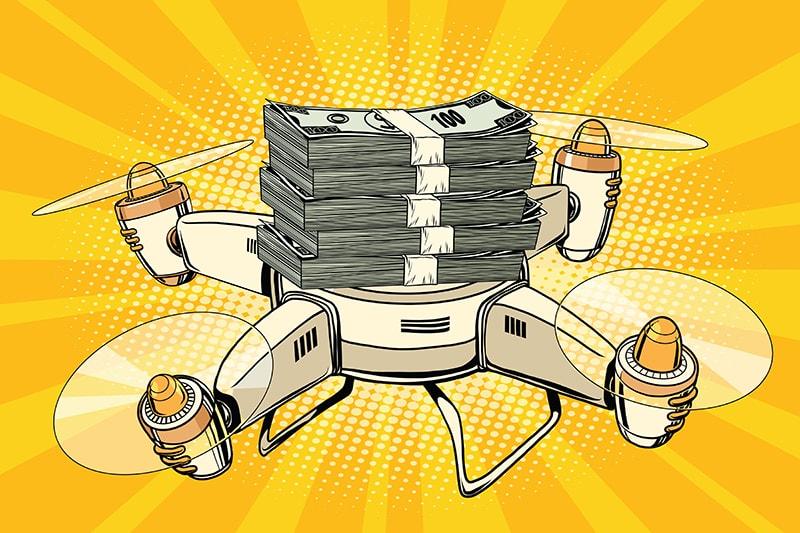 Saving Money Drone