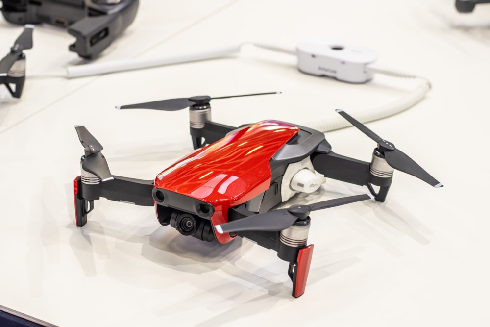 DJI Red Drone In The Store - Image