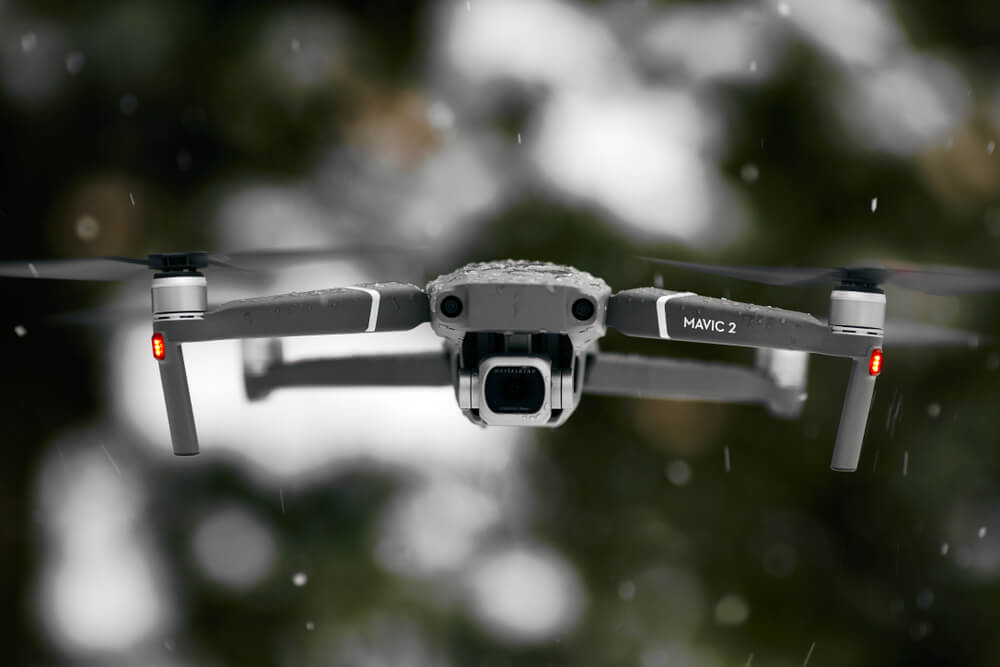 DJI Brand New Mavic 2 Pro Flying In snow conditions